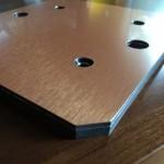 """""""riser"""" Aluminum Composite top plate."""